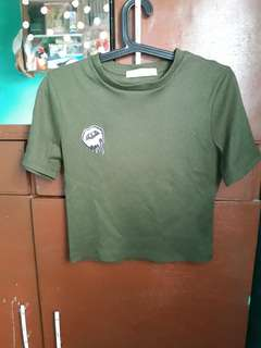 Fitted Army Green Top