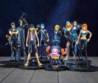 [PO] 9 FOR $180 Inspired One Piece Film Gold Anime Figurines Figure (Monkey D. Luffy/Roronoa Zoro/Sanji/Nico Robin/Tony Tony Chopper/Nami/Usopp/Brook/Franky)