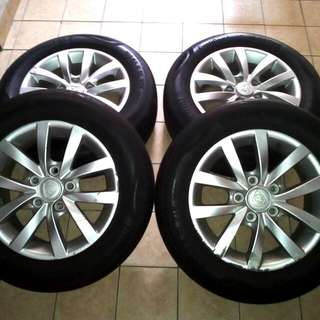 Tayar&Rim Continental 195/65 R15 91V