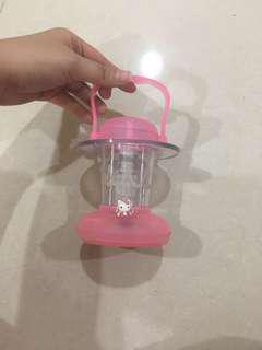 Mini pink lantern / lampu petromax digital pakai batre