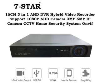 4/8/16CH DVR - Full-HD Hybrid 4/8/16 Channel CCTV Digital Video Recorder (Support:AHD/TVI/CVI/ANALOG/IP Camera) 7-STAR*
