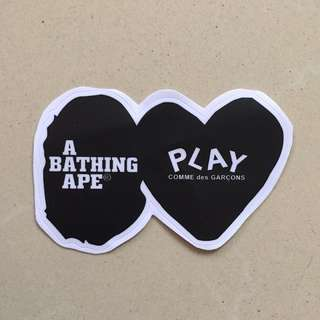 Waterproof Bape CDG Luggage Laptop Sticker