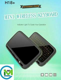 H18T Full Screen Touch Pad Mini wireless keyboard / Airmouse