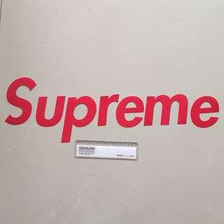 Supreme Logo Waterproof Luggage Laptop Sticker