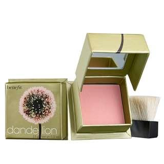Benefit Dandelion Blush Mini 蒲公英胭脂蜜粉迷你裝 3.5g Baby-pink Brightening Face Powder cheek color