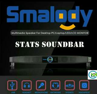 Smalody Soundbar Subwoofer Stereo Speakers Party Home Theatre