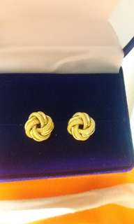 18k saudi gold earings