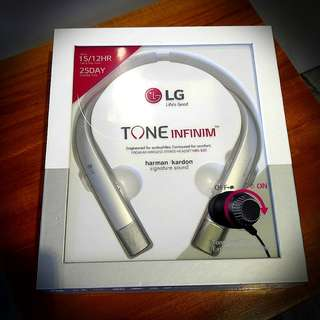 LG TONE INFINIM (HBS-920 Silver) - BNIB