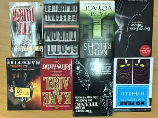 Books of various title. Fiction and non fiction