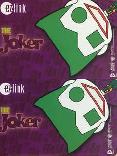 Limited Edition brand new DC Comics Joker Design ezlink Card For $10.