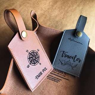 Personalized Leather Bag Tag