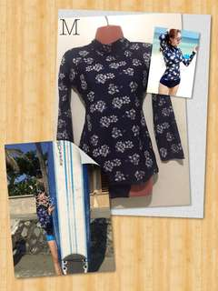 Blue Floral Rashguard (set)