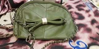 🚚 超軟的全新兩層小羊皮包,兩個背帶
