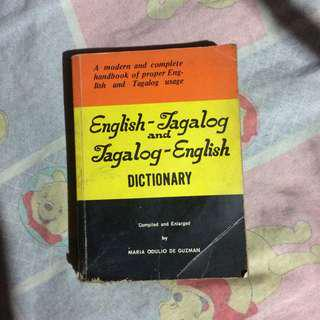 Merriam-webster's/English-Tagalog Dictionary