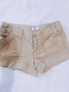 Brown denim short