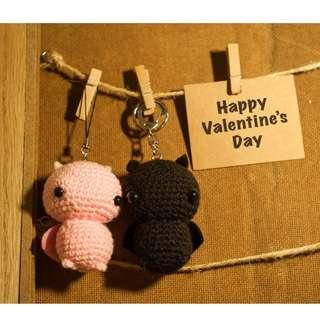 Valentine's Bats Amigurumi