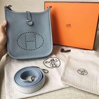 AUTHENTIC HERMES Mini Evelyne TPM Sling / Crossbody Bag