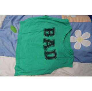 """crop top """"BAD"""""""