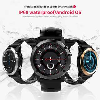 C1 IP68 Android Smart Watch - 3G,1.39 Inch Touch Screen, Altitude, air pressure,Pedometer, Heartrate Sensor, Android 5MP Camera (Black) Or (Gold) Or (Silver) (CVAIA-W100)