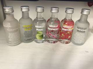 Mini vodka bottles 50ml
