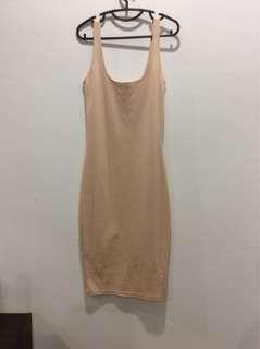 Cotton on bodycon nude dress #kayaraya