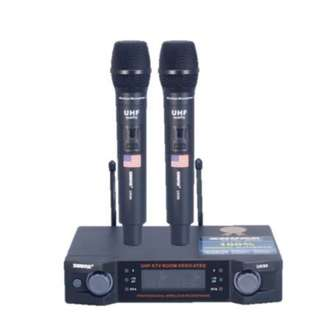 UK90– 2 Channel UHF Professional Wireless Microphone