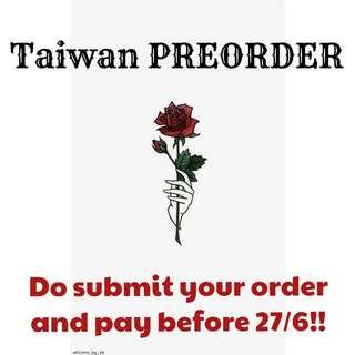 TAIWAN PREORDER 台灣代購