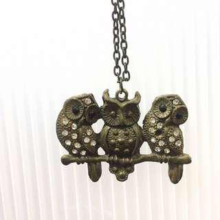 Owls Long Necklace