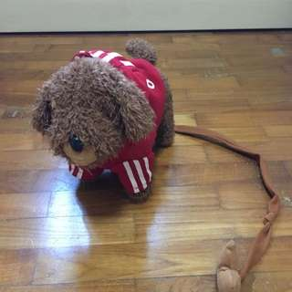 Soft Toy Dog with Leash