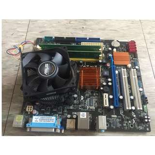 Intel CPU ASUS 主機板  RAM