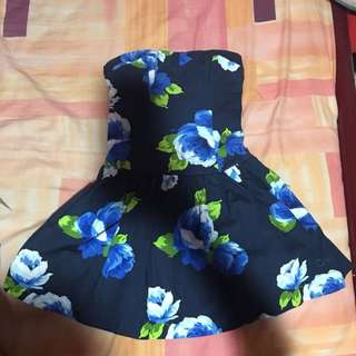Short Tube Floral Dress
