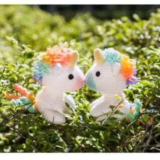 Koibito the Rainbow Unicorn Lover Amigurumi