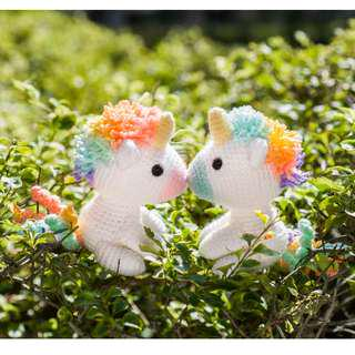 Koibito the Rainbow Unicorn Lover Amigurumi