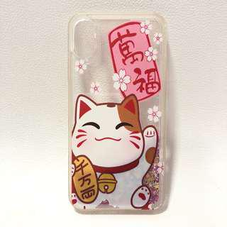 🚚 Iphone X Fortune Cat Casing
