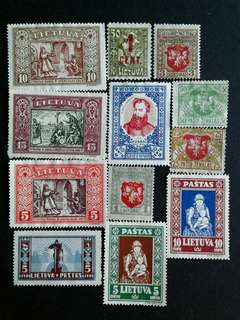 Lietuva vintage unused stamps