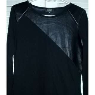 Preloved Leather Shirt Blouse