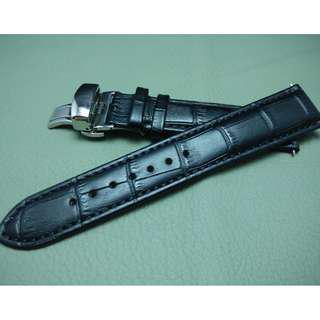 22mm錶帶 21mm錶帶 20mm錶帶 19mm錶帶 18mm錶帶 牛皮鱷魚紋 ROLEX TUDOR IWC OMEGA (ref:1822牛皮鱷魚黑)
