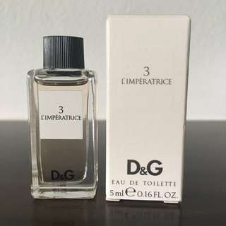 D&G Imperatrice 3. — Mini 5ml — Brand new, Rare