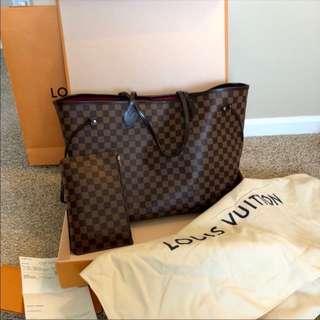 Authentic Louis Vuitton Neverfull bag Damier Ebene