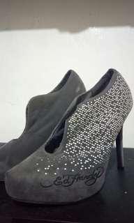 Gray high heels shoes - Ed Hardy