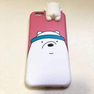 🚚 We bear bears (Ice Bear) Pink Iphone 6S Casing