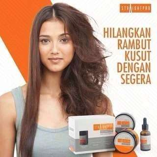 Authentic Straight Pro Hair Straightening 3 in 1 set PO