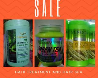 Hair treatment,Hair spa and Conditioner