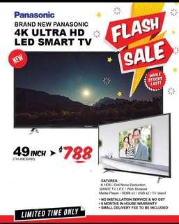 """Last piece! 49"""" 4K UHD LED PANASONIC smart tv"""