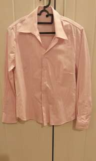 Office shirt, pink color, v collar, very new