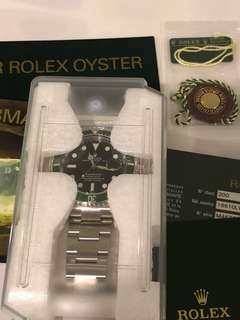 "Rolex 50th Anniversary Green Bezel Submariner Date ""M"" Series 16610LV"