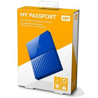 WD My Passport 1TB Portable Harddisk