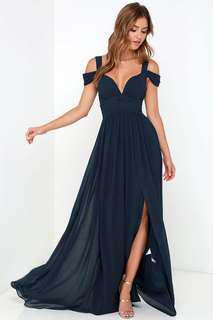 Bariano Navy Maxi Dress