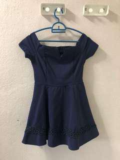 Palloe navy blue dress (inside short)