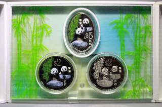 Singapore 2012 Giant Panda 3-in-1 Commemorative Coin Set